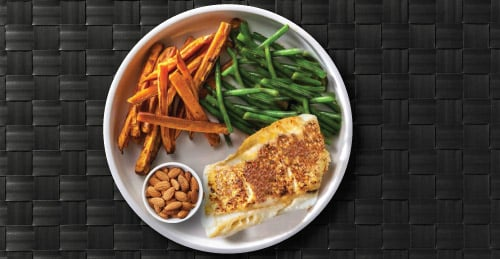 Picture of Alaskan Cod Fillet on a Plate With Asparagus