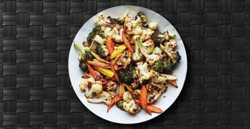 Roasted Veggies on Plate