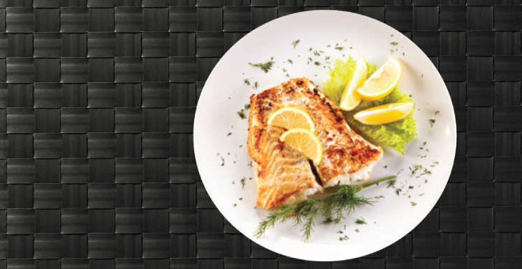 Fish on a plate with Garnish
