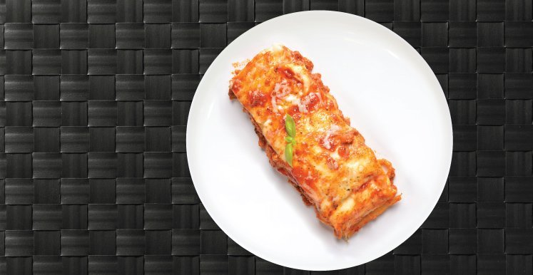 lasagnaon a plate