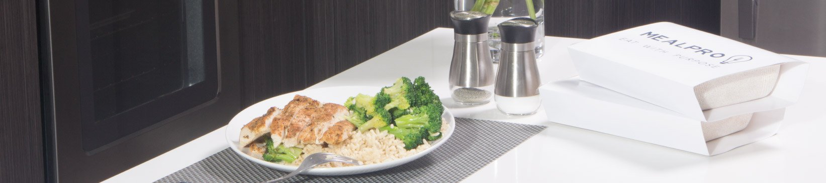 Heatlhy MealPro meals plated on the table