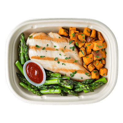 Enjoy Pre-Portioned and Pre-cooked meal plans delivered.