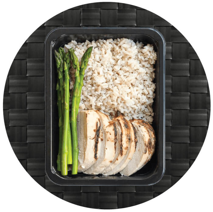 Pick Your portioned Meals on the Menu Page