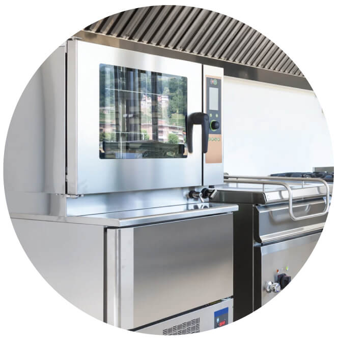 Picture of patented steamer oven used by MealPro's Riverside  food delivery service to cook for nutrient retention.