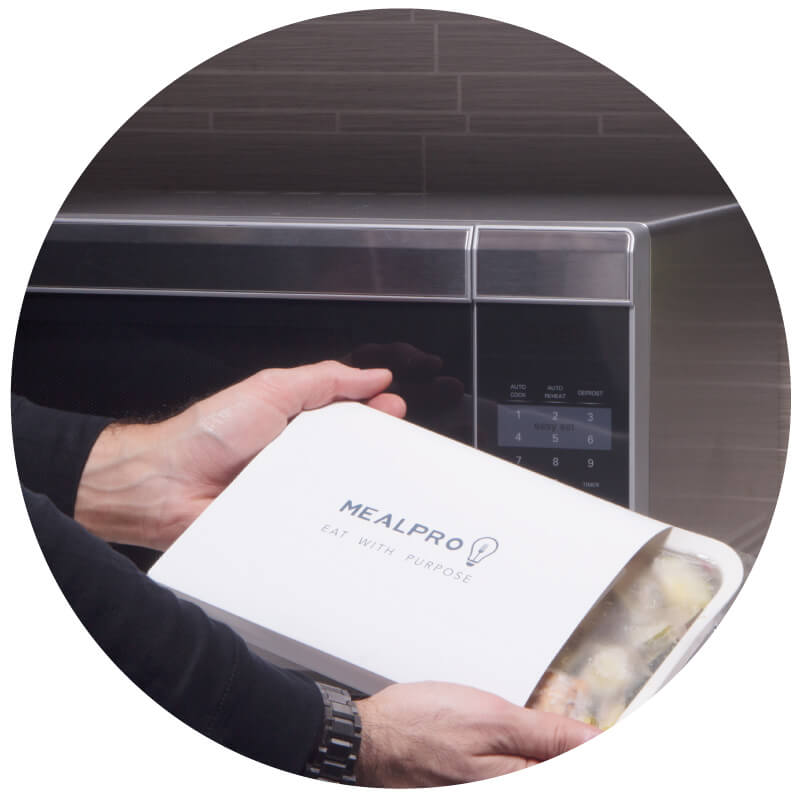 Your calorie counted food is delivered to your door portioned and cooked, ready to be enjoyed.