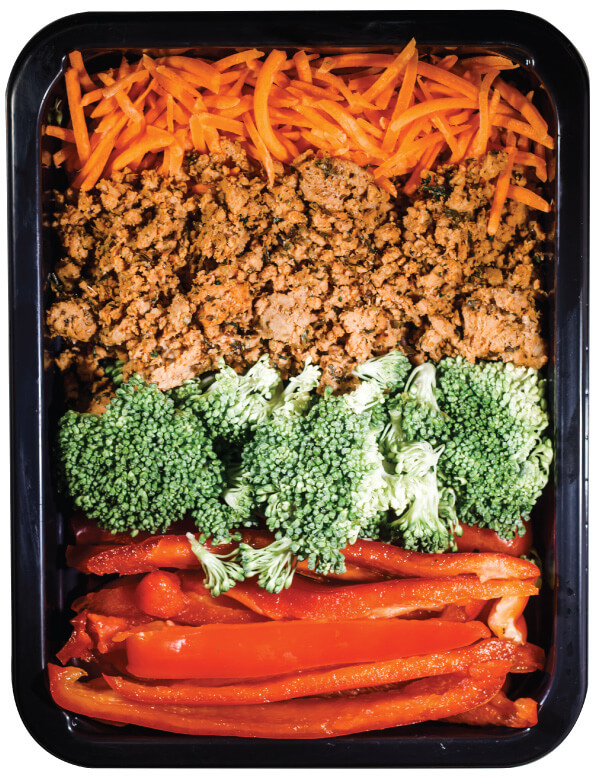 Picture of a MealPro atkins diet meal that is taken from the top view