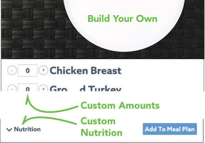 You can choose for your meals to have extra carbs on the menu page