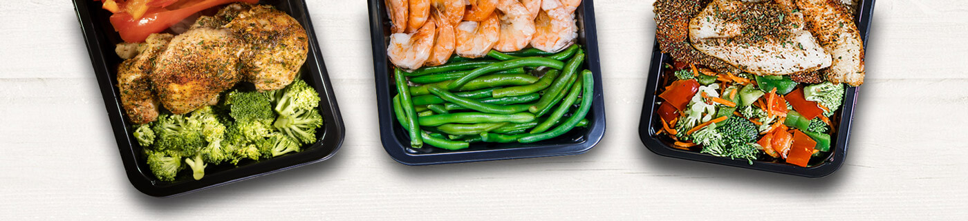 Healthy Bay Area weight loss meals served in a microwave safe weight loss meal prep containers